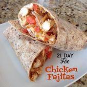 21 Day Fix Chicken Fajitas