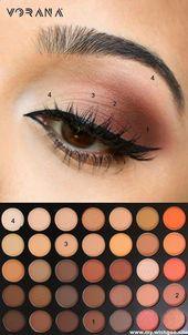 einfache Augen Make-up Tipps für Anfänger, die .. #eyeshadow #eyemakeup – # …..   – Makeup