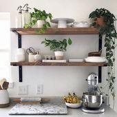 25 Faszinierende Wandregale für die Küche Ideen,…