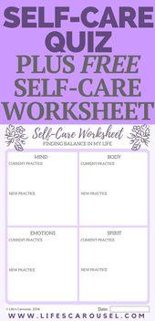Self-Care-Assessment, um das Gleichgewicht in Ihrem Leben zu finden – Self Care Hacks by Life's Carousel