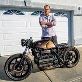 Trevor Ditson mit seinem Killer #bmw # k100 build 🙌🙌👍👍. -————–…   – Bmw motorcycle