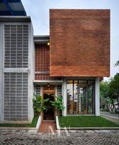 13 Rumah Bata Expose Minimalis Ideas Brick Architecture Architecture Brickwork