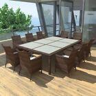vidaXL Dining Group Sitzgruppe aus Poly Rattan Braun Gartenmöbel-Set Gartenmöbel-Set …   – Mode