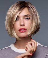 Trendige Styles für moderne Bob-Frisuren für feines Haar