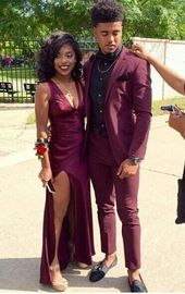 Burgundy Prom Dress,Split Prom Dress,Sheath Prom Dress,Fashion ...