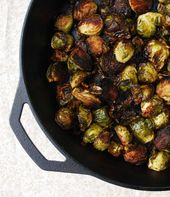Balsamic Roasted Brussels Sprouts with Garlic – An easy vegan side dish that wil…   – Vegetables