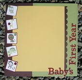 Baby's First Year – Cover (SUO) – scrapbook ideas