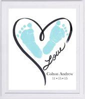 Baby Cards Diese Andenken besteht aus Ihren liebsten die tatsächliche Hand- und Fußabdrü...