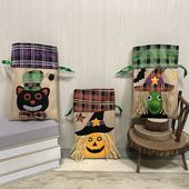 Halloween Cello Party Loot Bags Pouch Sweet Bag Trick Or Treat Spooky Pumpkin Candy Bags Boxes Case Container Organizer
