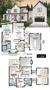 White modern farmhouse style with covered v …