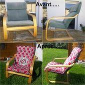 DIY : une housse pour le fauteuil Poang d'Ikea