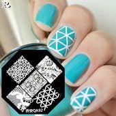 50+ So schön Spitzenstanz- & Blumenmuster Nageldesign – Nägel Design – #am …   – Nageldesign