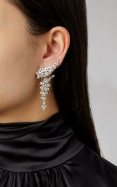 18K White Diamond Chandelier Earrings