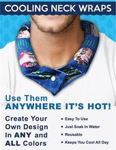Gym seawe Cooling Neck Wrap Natural Hanging Neck Cooler Body Cooling Band Neck Cooling Belt Summer Cooling Scarf Ice Neck Wrap With Natural Cooling Technology For Outdoor Sports