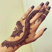 idées côté main. 21 styles et tendances du henné nuptial – L'art au henné de Divya:   – Henna