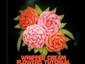 Wie man eine Blume (ROSE) mit Schlagsahne macht – YouTube