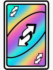 Rainbow Uno Reverse Card Sticker By Jordan Rose In 2021 Preppy Stickers Uno Cards Weird Stickers