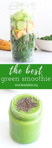 Der beste grüne Smoothie   – Healthy Smoothies, Juices & Drinkables