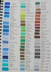 Colored Pencil Color Charts Colored Pencils Color Chart Prismacolor Pencils