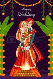 347 Indian Wedding Couple Cliparts, Stock Vector A…