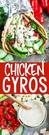 These quick and easy chicken gyros with Greek feta sauce are so super versatile …