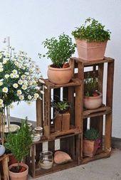 Außendekoration mit Holzkisten! Hier sind 20 wundervolle Ideen …
