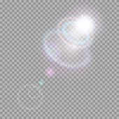 vektor transparent sonnenlicht spezialoptik flare lichteffekt durchscheinende sonne blitz mit strahlen und spotlight gold bilder effekte blendenflecke abstrakt schiff lebensblume
