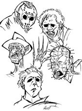 Horror Movie Coloring Pages Sketch Coloring Page Coloring Book Art Coloring Pages Halloween Coloring Pages