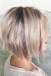15 penteados curtos bonitos para as mulheres olharem adorável | Fur-frauen.com | #kurzefr …   – Frisuren 2019