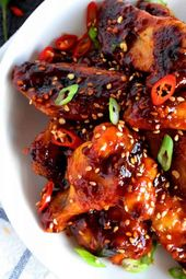 Spicy Korean Gochujang Chicken Wings – Lord Byron's Kitchen