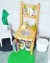 Salle de bain Montessori pour enfants – Des hacks IKEA   – Education: Montessori concept & inspirations
