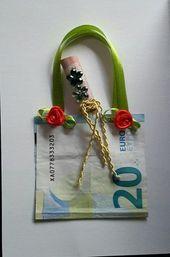 Eine Geldgeschenkkarte zum Geburtstag gebastelt ….. Geld einkaufen