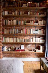 Wunderschöne Bücherregale aus Holz
