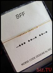 BFF Morse Code Necklace in Sterling Silver or 14k Gold Filled Best Friends Jewelry Kindred Spirits Necklace BFF Morse Code Necklace in Sterling Silver…