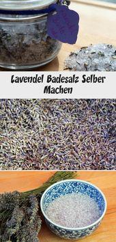 Lavendel Badesalz Selber Machen