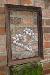 Garden picture with snail shells
