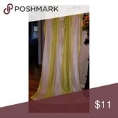 Lime Green and White Silk Curtains Lime green and …