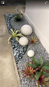 70 ideas mágicas de diseño de jardín de grava de patio lateral y patio trasero   – Jardines