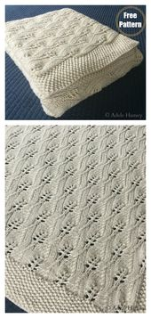 Baby Blanket Lace Leafy Wedding Throw Free Knitting Pattern #freeknittingpattern #knittingbla...