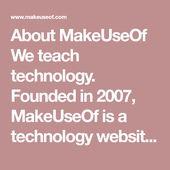 About MakeUseOf