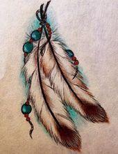 Federtattoo, um das Tattoo auf meinem Nacken zu vertuschen. http: // @ Megan War…