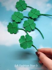 eight Simple Origami Concepts – Enjoyable Paper Crafts –  Clover Concept –  Clover