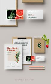 Brand Identity System, Business Card Design Custom Logo for Nutritionist – Sweet Science – Design