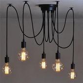 Retro Style Edison Ceiling Lamp Light Chandelier H …