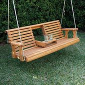 Porchgate Amish Heavy Duty 700 Lb Rollback Console Treated Porch Swing With Hanging Ropes – renovation ideas