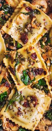 Italian Ravioli with Spinach and Artichokes – Pins – Pasta