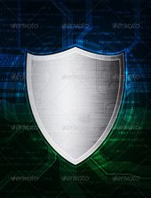 Shield   #GraphicRiver         shield on modern technology theme design background. Conceptual illustration. Zip archive contains fully editable layer…