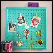 Craft room pegboard ideas closet 15 Best ideas  Bastelraum Pinnwand Ideenschrank… – uncategorized