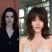 Short-Messy-Bob-Hairstyle-1 Short Hairstyles with Bangs 2019 #bobhaircutswithbangs