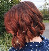 Auburn Hair # 28: Schwülrot für edle Frauen – #auburn #auburnhairstylesshort #women #edle #f
